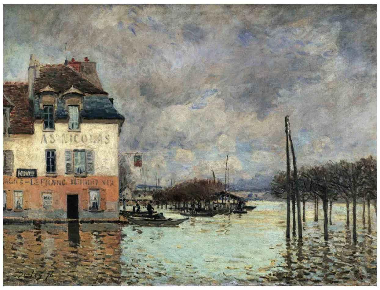 艺术丨西斯莱丨马尔利港的洪水